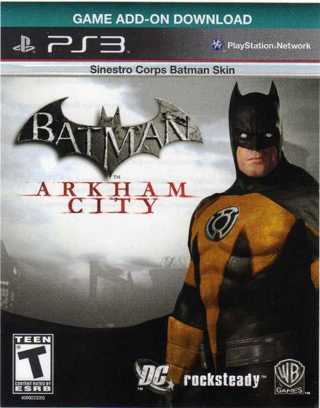 Free: BATMAN ARKHAM CITY PS3 Game Add-On Download - Sinestro Corps