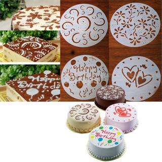 4PCS Cake Mold Chocolate Cream Cutter Fondant Sugarcraft Decorating Mould Tools