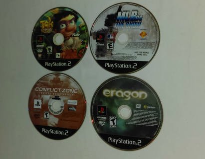Lot of 4 Playstation 2 Video Games