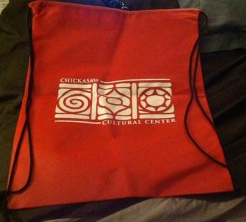 New Chickasaw Drawstring Backpack/Read description before bidding