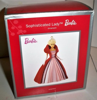 "2013 Mattel American Greetings - BARBIE Sophisticated Lady ceramic ornament - 4"" tall - in box"