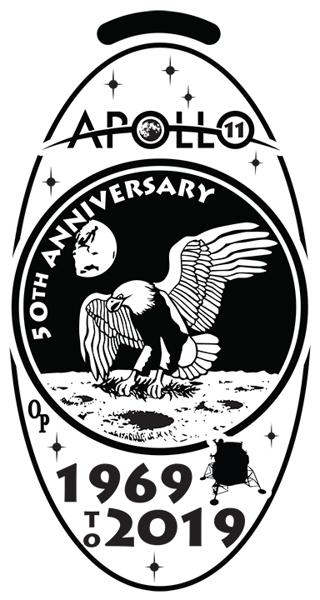 NEW - Apollo 11th 50th Anniversary Elongated pre-1982 COPPER Cent (Penny)