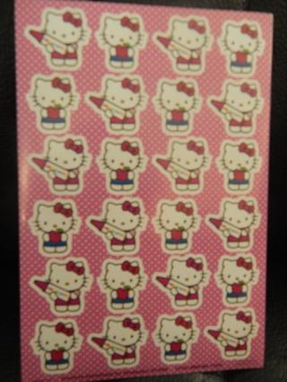 Fun sheet of  HELLO KITTY stickers