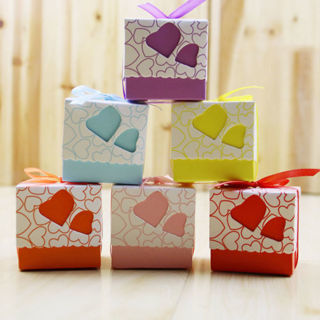 10PCs Love Heart Wedding Favor Party Candy Gift Boxes Bags