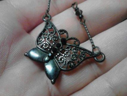 Butterfly choker type necklace