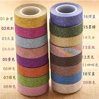 New Arrival Adhesive Silver Golden Glitter Washi Tape Scrapbooking Christmas Party Kawaii Cute Dec