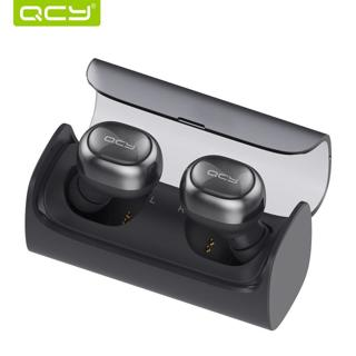 QCY Q29 bluetooth wireless earphones headphone and power bank for iphone 7 and all bluetooth devices