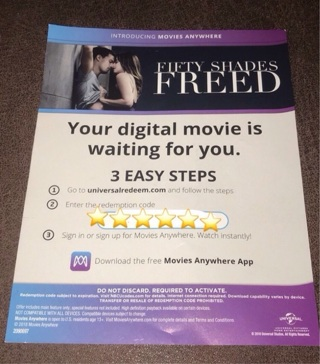 FIFTY SHADES FREED - UNRATED HD DIGITAL COPY