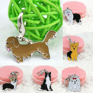 Necklace Pendant Dog Tag Disc Disk Pet ID Metal Enamel Accessories Collar Key
