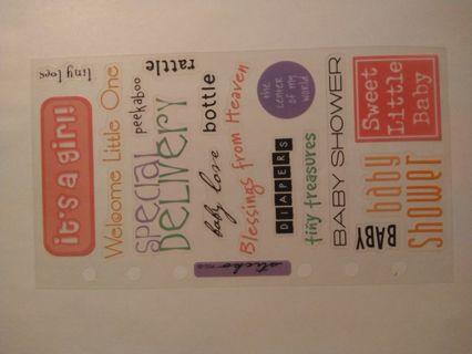 It's a girl Scrapbook Stickers