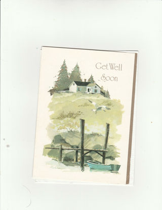Get Well Card Unused With Envelope
