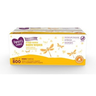 Parent's Choice Fresh Scent Baby Wipes, 800 count (8 packs of 100)