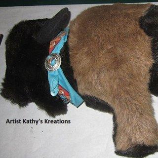 Huge stuffed buffalo artist kathys kreatons