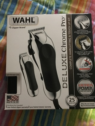 WAHL DELUXE CHROME PRO 25 PIECES BRAND NEW