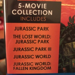 All five Jurassic Park digital movies