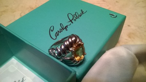 Sterling Silver Carolyn Pollack Citrine Ring size 5