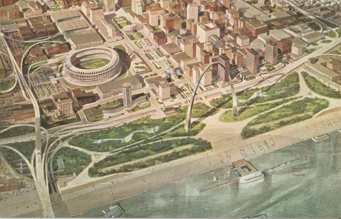 Vintage Unused Postcard: The New Downtown St Louis, MO