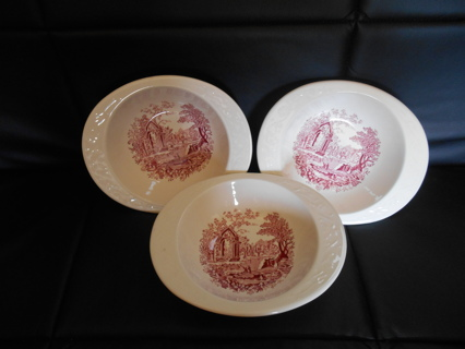 SET OF 3 ENGLISH ABBEY BOWLS