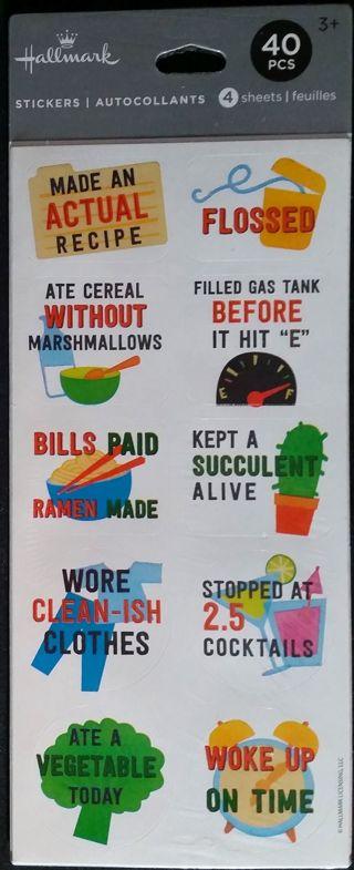 HALLMARK Silly Achievement Sticker Pack - NIB