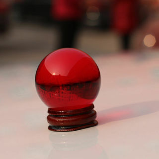 Asian Rareartz Red Magic Crystal Healing Ball Sphere 40mm+Stand AAA