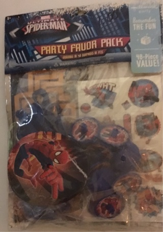 Hallmark Party Favor Pack 48 Pieces- great for Birthday Party Spider-Man