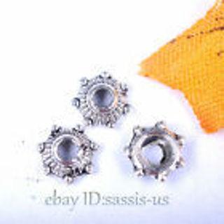 20 Tibetan Silver 5mm Flower Bead Cap or Spacer