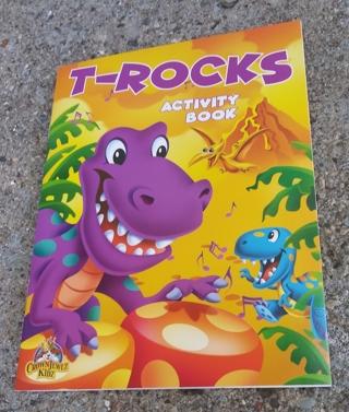 MEDIUM SIZED DINOSAUR T - ROCKS COLORING BOOK ACTIVITY BOOK