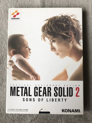 Rare Japanese Metal Gear Solid 2 Playstation 2 PS2 Game with Birth Slipcover