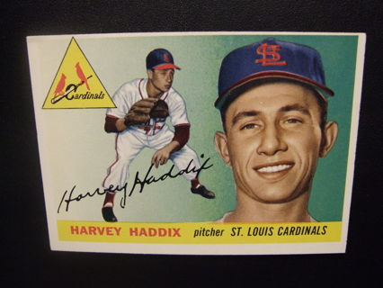 1955 TOPPS BASEBALL CARD NO. 43 - HARVEY HADDIX - CARDINALS - PSA WORTHY
