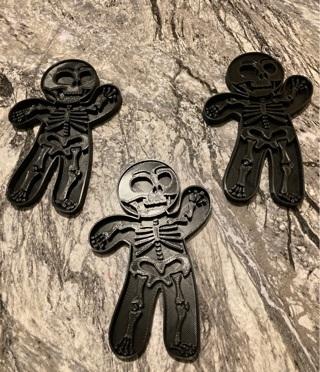 Skelton cookie cutters 3d printed
