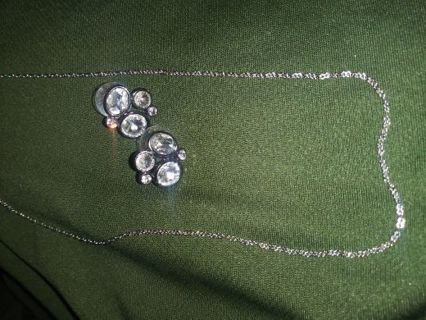 ~Sterling Silver Chain & Earring Duo~