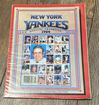 1984 New York Yankees Yearbook - Yogi Berra, Don Mattingly