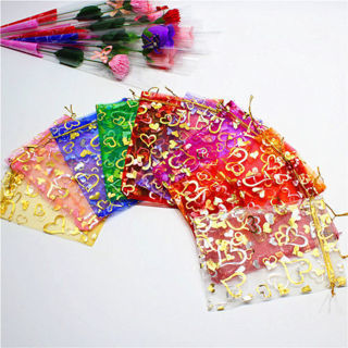 30PCs Gauze Organza Gift Bag Jewelry Packing Pouch Wedding Favor