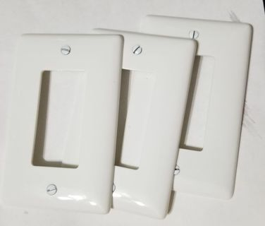 3 Large press switch covers