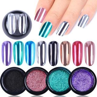 0.3g/Bottle Nail Glitter Powder Magic Mirror Shining Chrome Pigment Dust Black Silver Flakes Manic