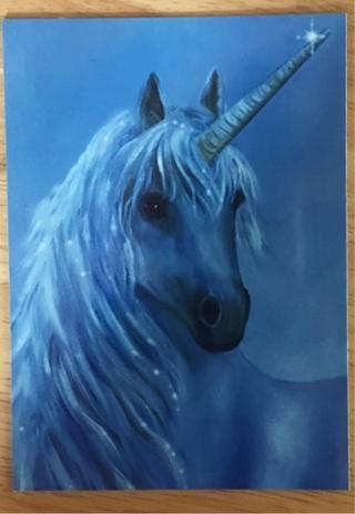 "BLUE MOON UNICORN - 4 x 5"" MAGNET"