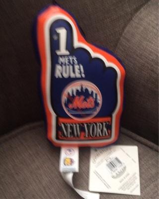 NY Mets #1 baseball hand plush
