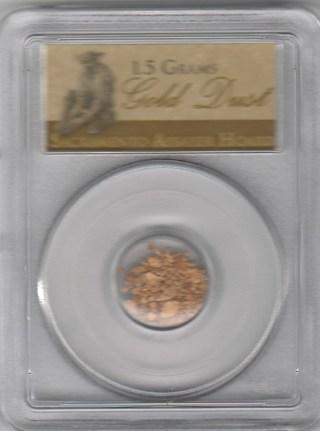 Sacramento Assayer Hoard 1.5 Grams Gold Dust (PCGS)