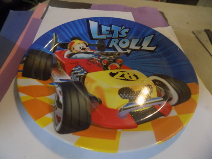 Melamine plate Mickey & and Roadster racers