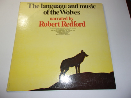 Robert Redford narrates The Language and Music of the Wolves-Natural History Magazine-LP NM