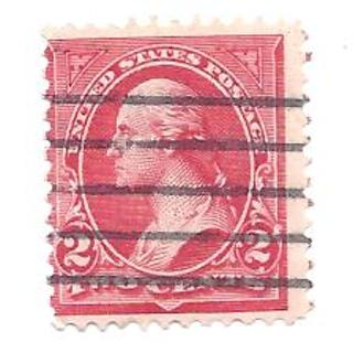 1890s USA 2 Cent Red George Washington Postage Stamp