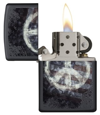 1 NEW Zippo American Flag x PEACE Sign Lighter FREE SHIPPING