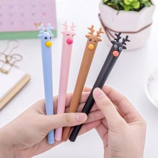 Colored Deer Shape Shell Gel Pen DIY Office Stationery and School Supplies Smooth Writing Black an