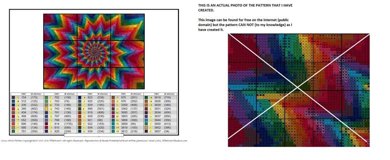 Rainbow Hallucination Cross Stitch Pattern
