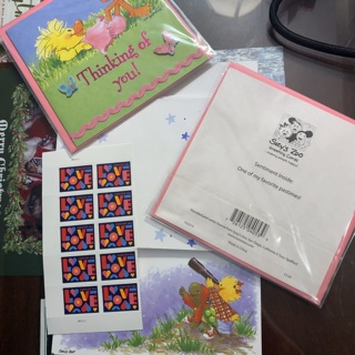 10 USPS LOVE Stamps + Suzy's Zoo Stationary, Stickers & Greeting Cards Lot RARE Kawaii