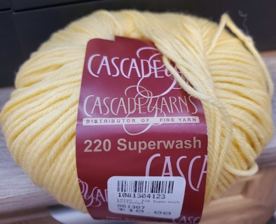 "NEW - Cascade Yarn - ""Lemon"""