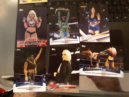 6 WWE DIVAS WRESTLING CARDS