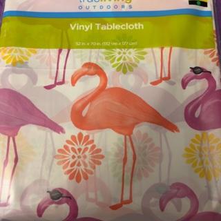 Flamingo Plastic Tablecloth