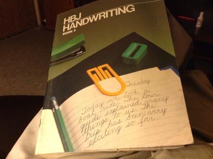 HBJ HANDWRITING BOOK 3 by BETTY KRACHT JOHNSON, HARCOURT BRACE  Jovanovich