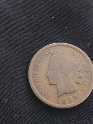 1897 Indian One Cent Wheat Penny..
